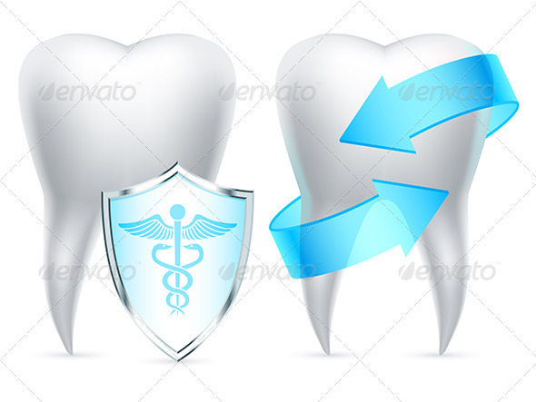 Teeth Protection Concept - Health/Medicine Conceptual
