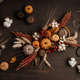 Diy rustic autumn table decoration. Floral interior decor for fall holidays - PhotoDune Item for Sale