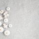 Collection of white handmade plaster pumpkins. Autumn seasonal holidays background - PhotoDune Item for Sale