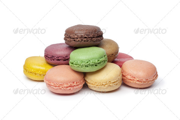 Colorful French Macaroons - Stock Photo - Images