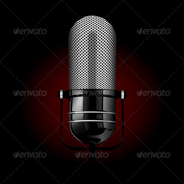 Vector Realistic Microphone - Man-made Objects Objects