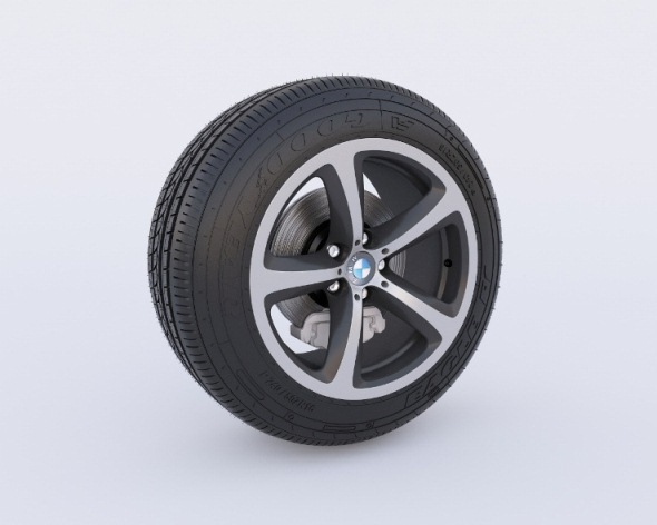 Detailed Tire Model - 3DOcean Item for Sale