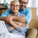 Happy retired senior couple moving into a new home, apartment - PhotoDune Item for Sale