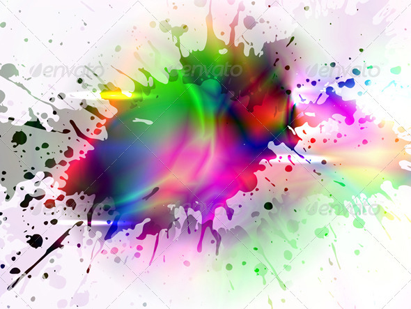 stylized colorful splash, vector - Abstract Conceptual