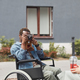 Photographer in wheelchair taking photo of woman - PhotoDune Item for Sale