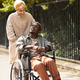 Caregiver walking with disabled man - PhotoDune Item for Sale