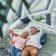 Top view of beautiful mature couple smiling and communicating - PhotoDune Item for Sale