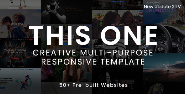 Marvelous This One - One Page Responsive Website Template