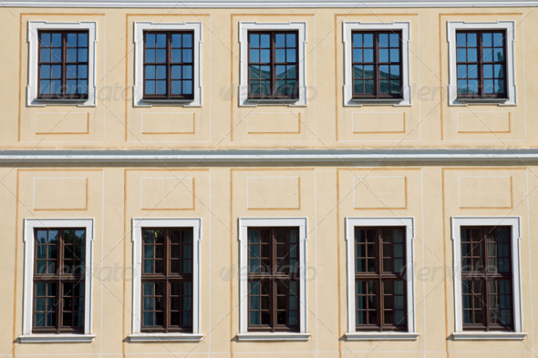 Historic facade in Dresden - Stock Photo - Images