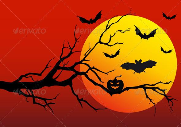 Halloween Background, Vector - Halloween Seasons/Holidays