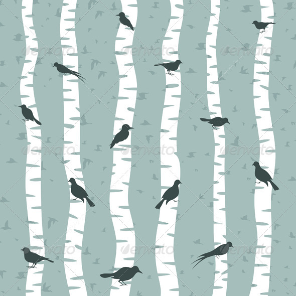 Bird on a birch - Animals Characters