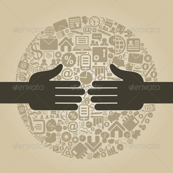 Hand business4 - Business Conceptual