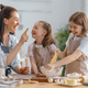 family are preparing bakery together - PhotoDune Item for Sale
