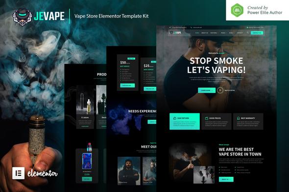 Jevape – Vape Community & Store Elementor Template Kit