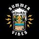 Beer Summer Vibes Illustration