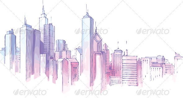 City Skyline - Buildings Objects