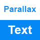 Text Parallax Effects in JavaScript