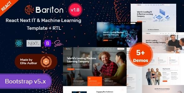 Marvelous React Next IT & Machine Learning Template - Bariton
