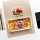 Appetizing tasty meat with cheese, lasagna in container, pickled vegetables, cutlery, smartphone - PhotoDune Item for Sale