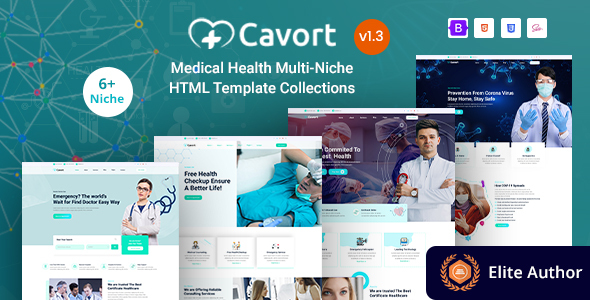 Nice Medical Health Multi-Niche Template Collections - Cavort