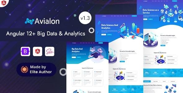 Angular 12 Big Data Analytics & AI Startup - Avialon