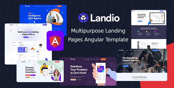 Landio - Multipurpose Landing Page Angular Template