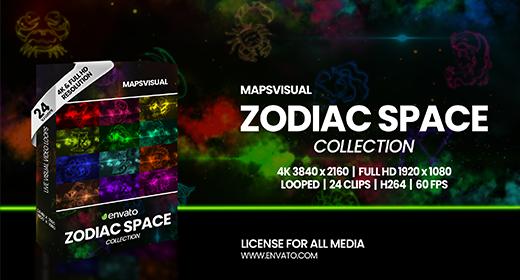 Zodiac Space Collection VJ Loop