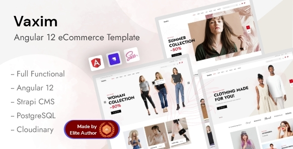 Angular 12 Strapi eCommerce Template - Vaxim