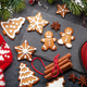 Christmas card with gingerbread cookies and tea - PhotoDune Item for Sale