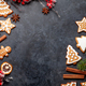 Christmas card with gingerbread cookies and spices - PhotoDune Item for Sale