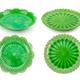 set of green vintage ceramic plate on white - PhotoDune Item for Sale
