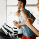 Picture of people running on treadmill in gym - PhotoDune Item for Sale