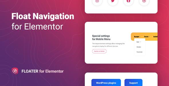 Floater – Sticky Navigation Menu for Elementor