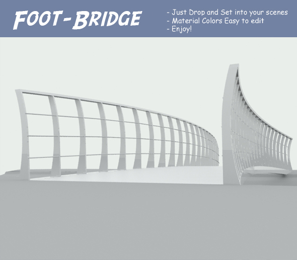 Foot-Bridge - 3DOcean Item for Sale