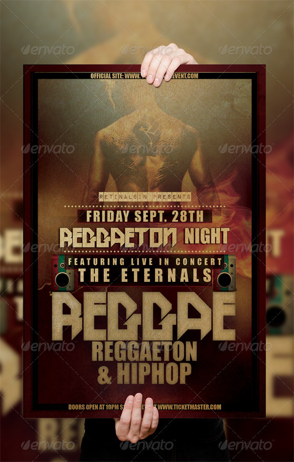 Reggae Poster / Flyer Template - Clubs & Parties Events