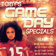 Toby's Game Day Specials Flyer Template - GraphicRiver Item for Sale