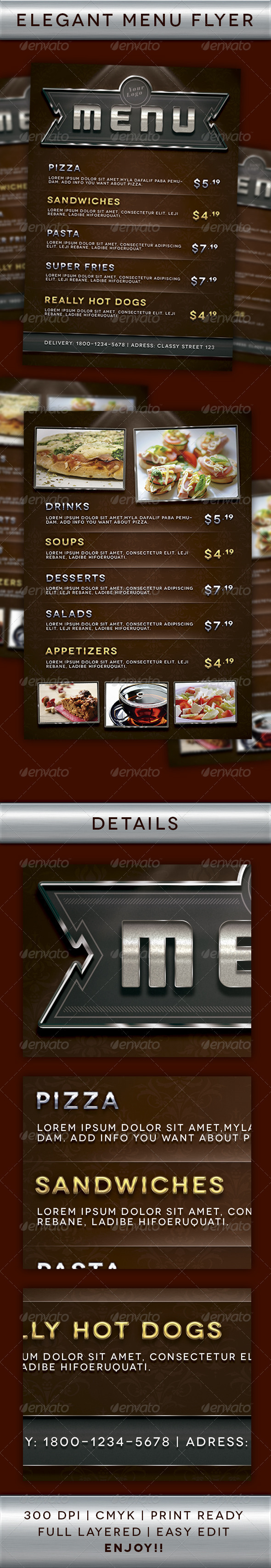 Multipurpose Menu Flyer - Restaurant Flyers