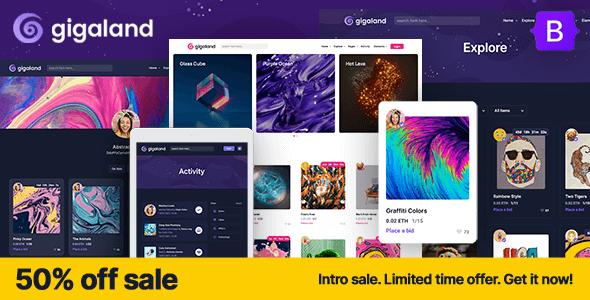 Gigaland – NFT Marketplace HTML Template