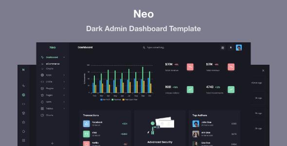 Extraordinary Neo - Responsive Admin Dashboard Template