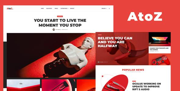 AtoZ - Blog and Magazine HTML Template