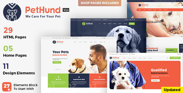 Wondrous Pet Hund - Animals Shop & Veterinary HTML Template