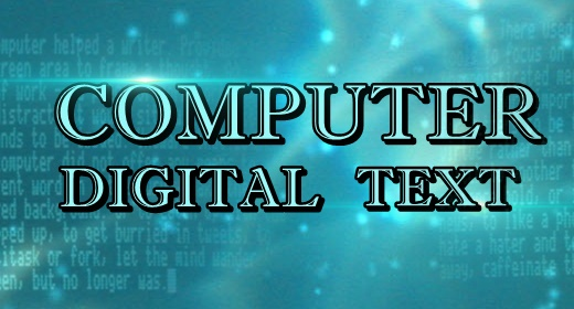 Computer Digital Text Sounds