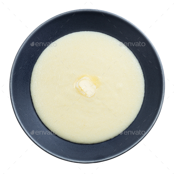 top view of buttered semolina from durum wheat - Stock Photo - Images