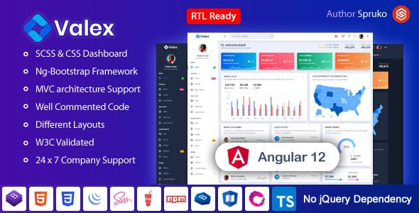 Fine Valex – Angular Admin & Dashboard Template