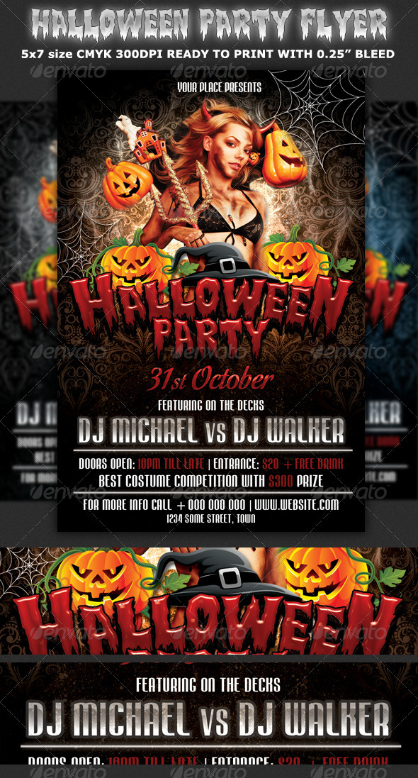 Halloween Party Flyer Template By Hotpin | Graphicriver