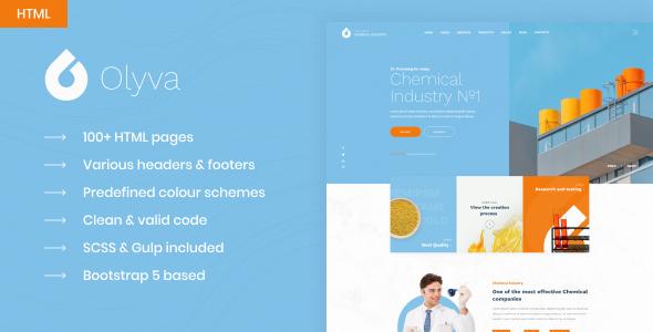 Olyva - Сhemical Industry Bootstrap 5 HTML Template