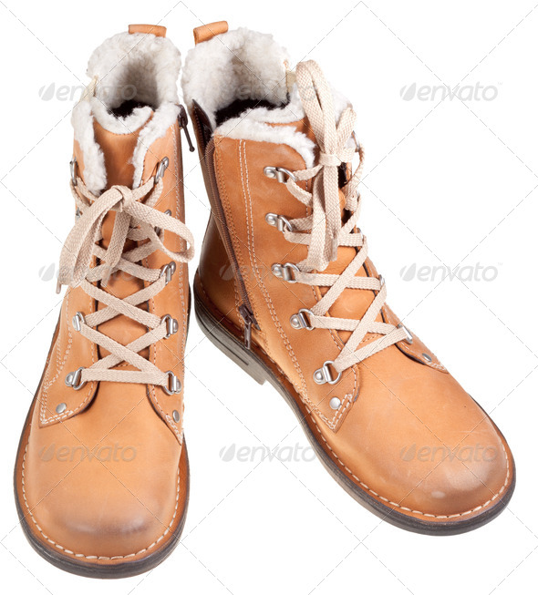 autumn outdoor boots - Stock Photo - Images