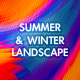 Summer and Winter Landscape - GraphicRiver Item for Sale