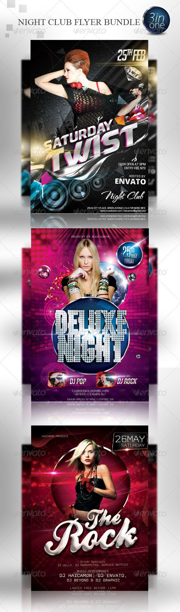Night Club Party Flyer Bundle - Events Flyers