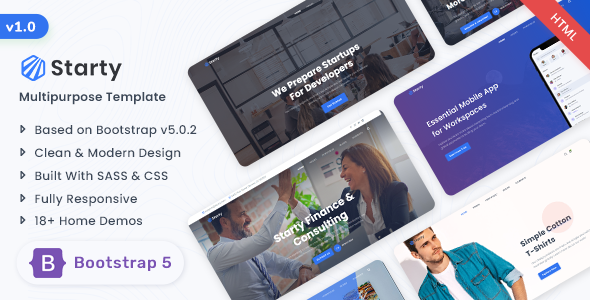 Starty - Bootstrap 5 Multipurpose Template